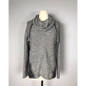 Kuhl Gray Viscose Blend Long Sleeve Cowl Neck Top